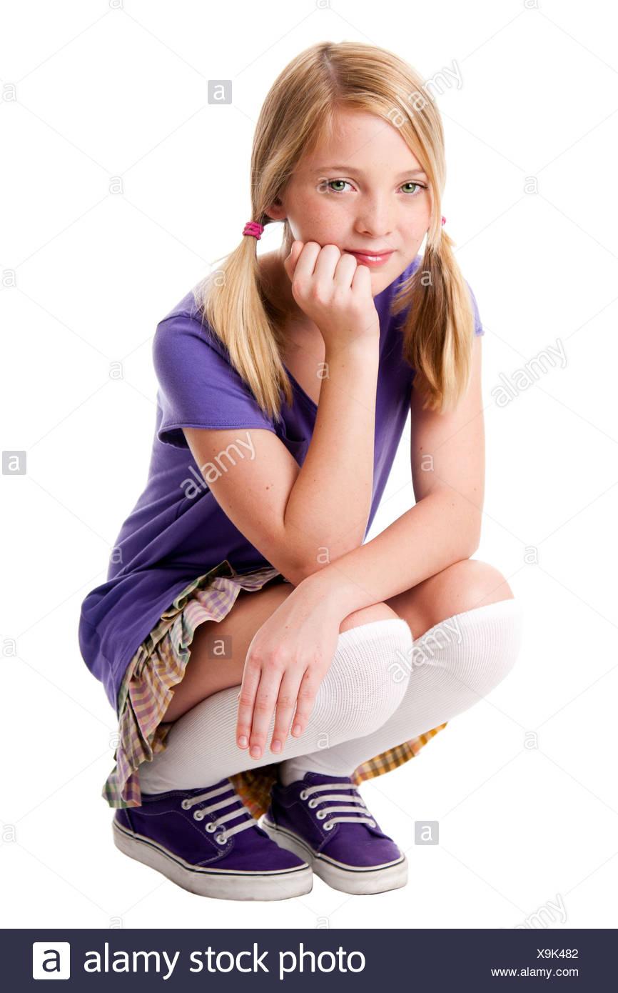 Young teenage girl cumming