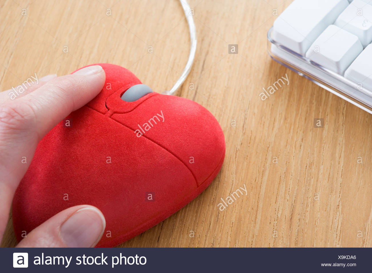 55ee302dbba Heart-Shaped Computer Mouse Stock Photo  281325358 - Alamy