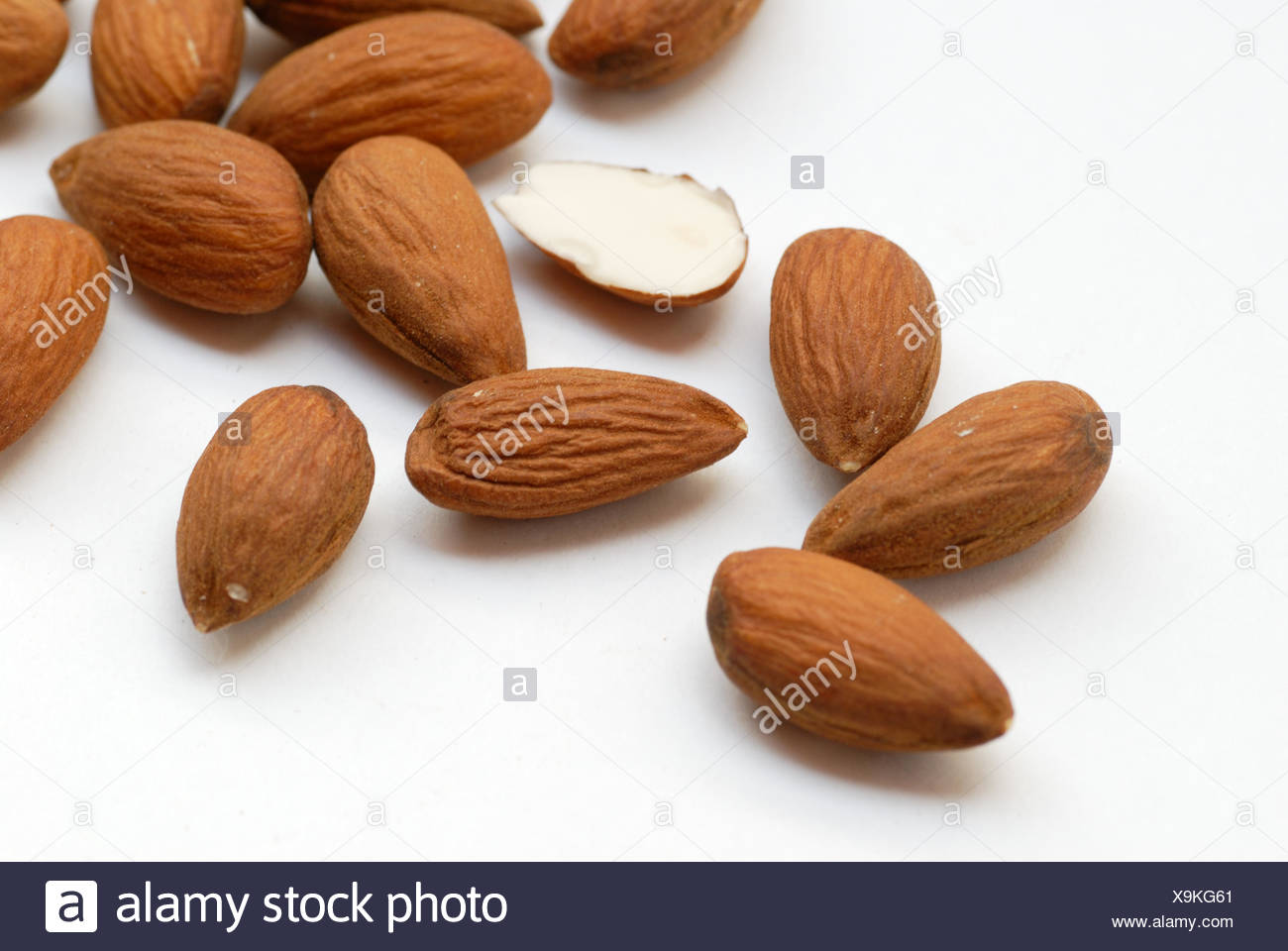 almond cores - close - Stock Image