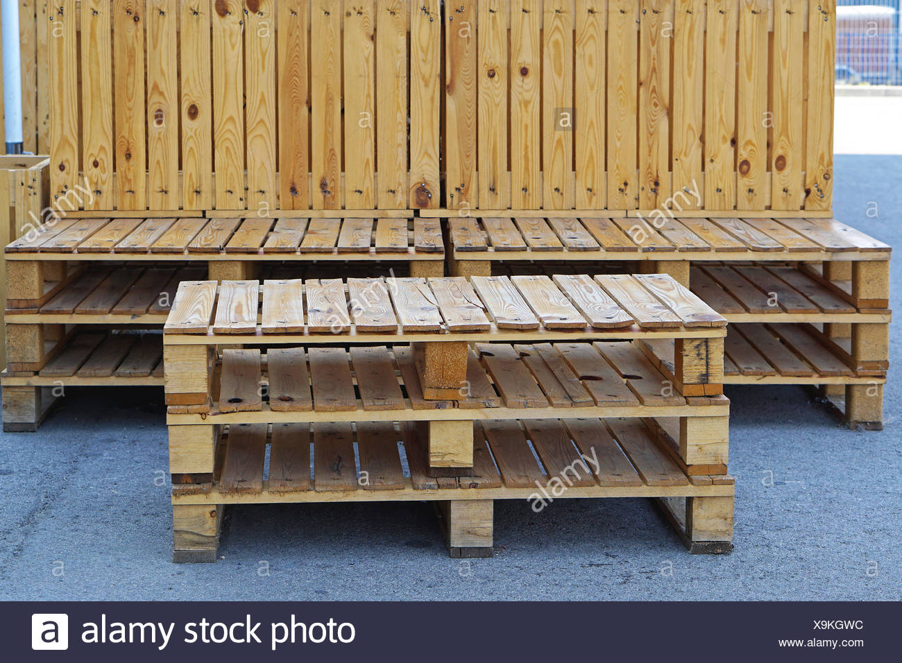 Pallet Furniture   Stock Image