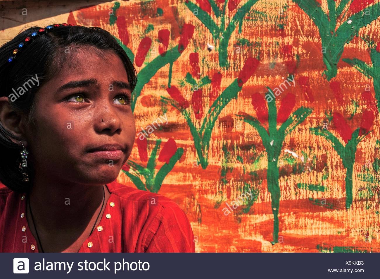 Bangladeshi girl - Stock Image