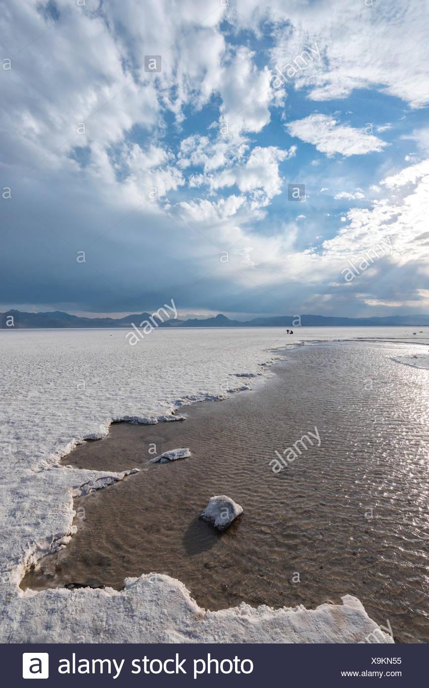 Utah, Wendover, Bonneville Salt Flats, Stock Photo