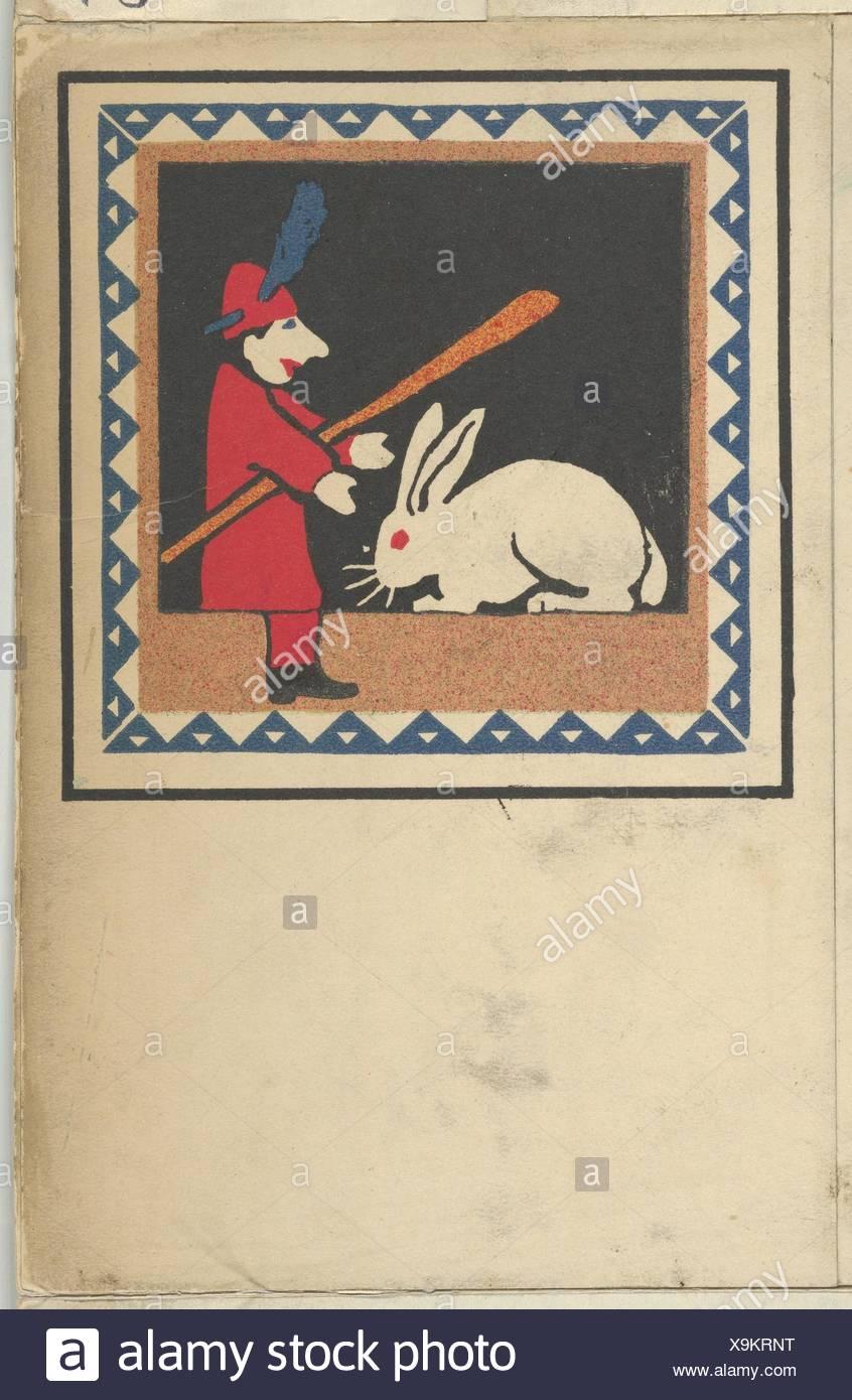 Kasperltheater. Artist: Hans Kalmsteiner (Austrian, Vienna ca. 1882/6-ca. 1914/16 Vienna); Publisher: Published by Wiener Werkstätte; Date: 1907; - Stock Image