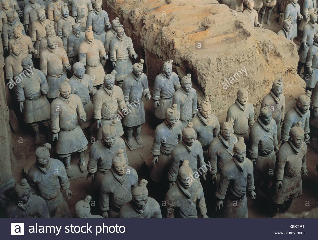 Terracotta Warriors, Xi'an, Shaanxi Privince, China Stock Photo