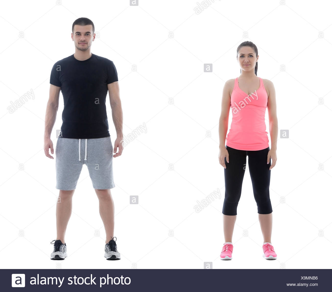 Fitness man and woman - Stock Image
