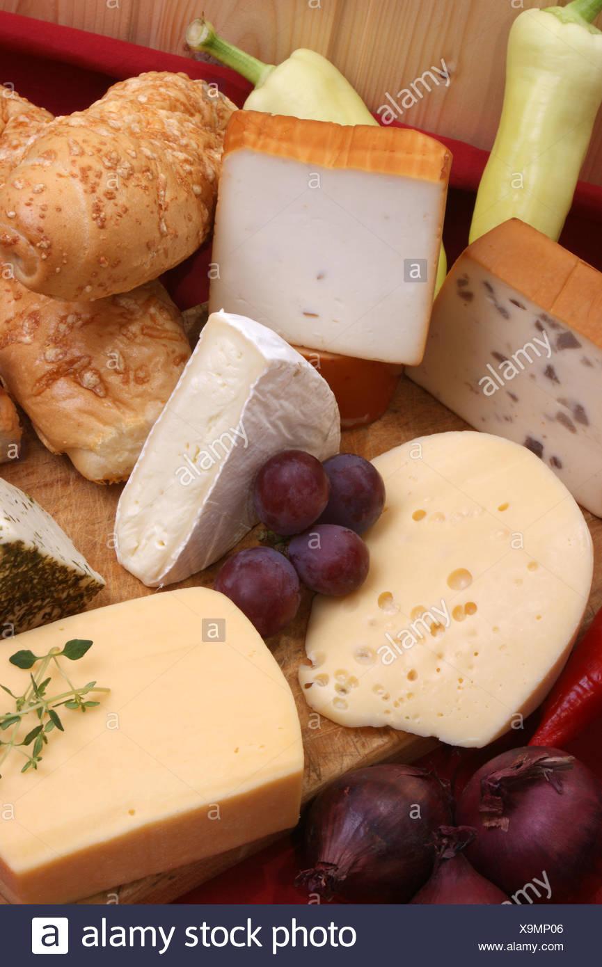 a cheese plate with cheeses & a cheese plate with cheeses Stock Photo: 281354086 - Alamy