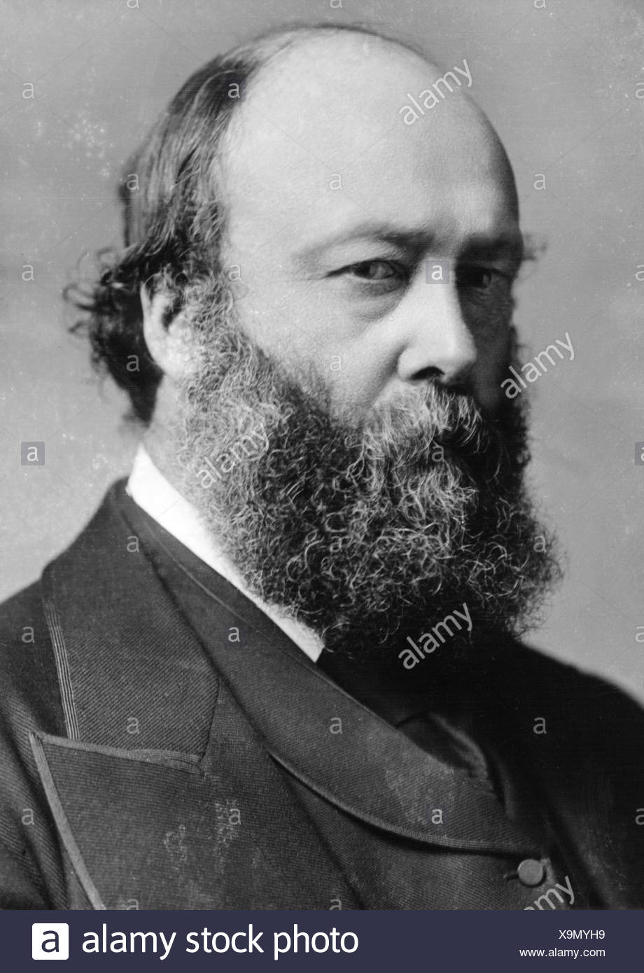 Gascoyne-Cecil, Robert, 3.2.1830 - 22.8.1903, Marquess of Salisbury 1868 - 1903, British politician, Premier Minister 23.6.1883 - 26.6.1886, 25.7.1886 - 11.8.1892 and 25.6.1895 - 11.1902, portrait, , Additional-Rights-Clearances-NA - Stock Image