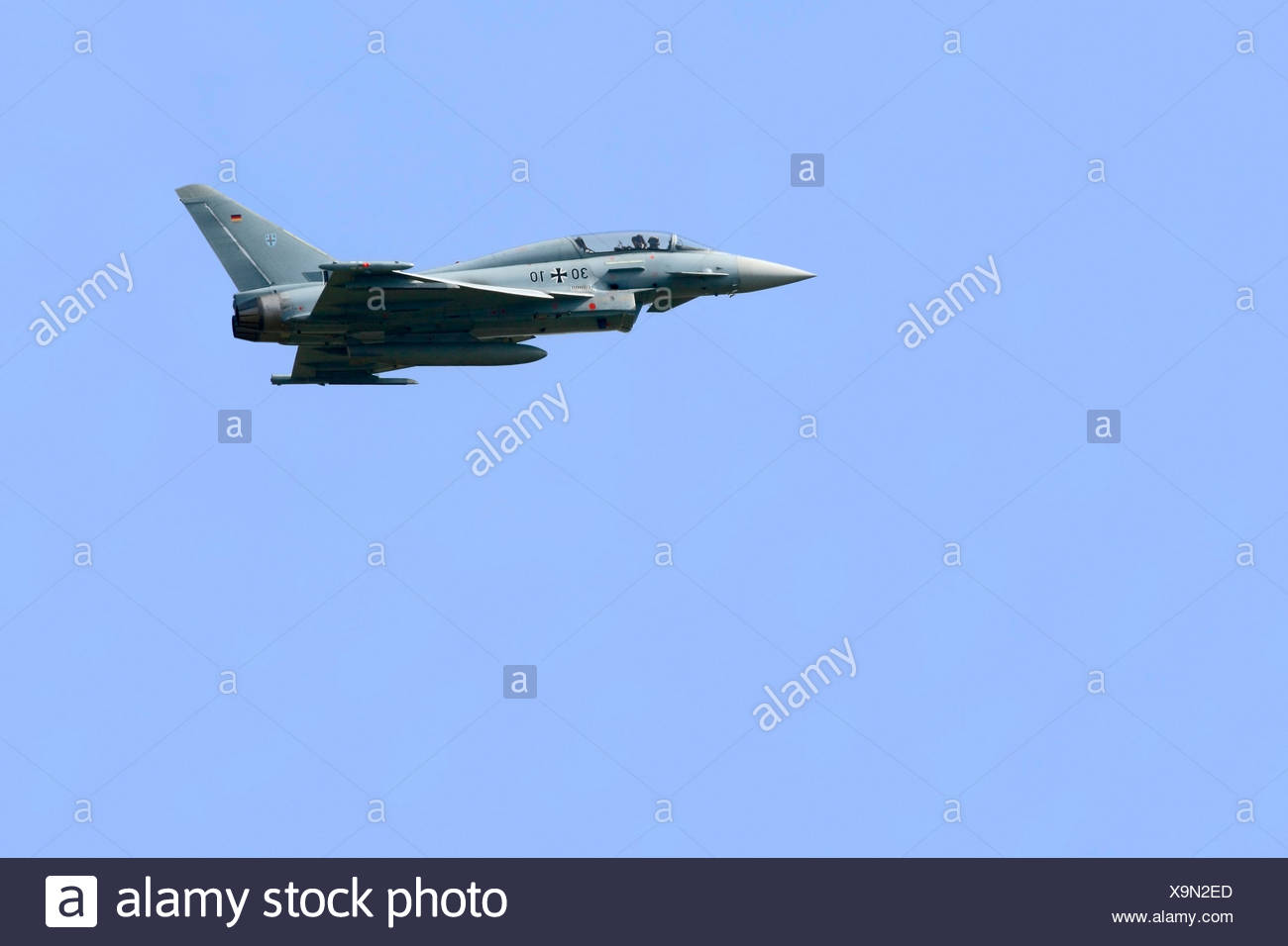 Eurofighter Typhoon, tactical aircraft of the Luftwaffe in flight - Stock Image