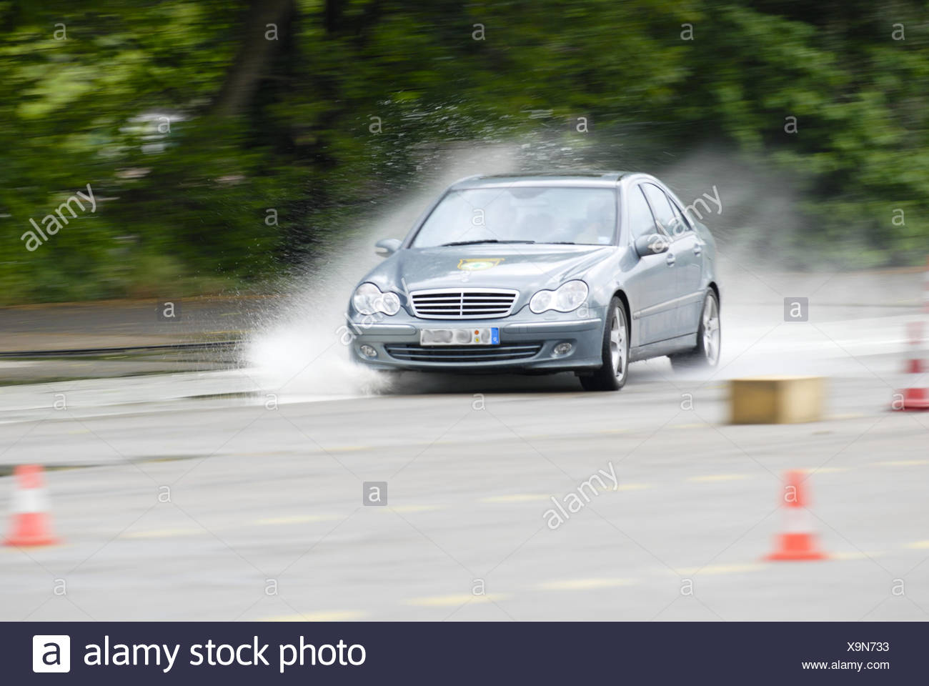 Safety training for drivers Stock Photo