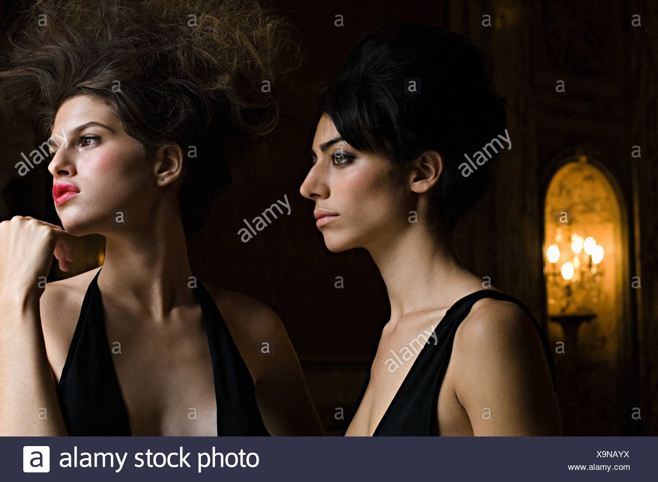 Intrigued hispanic women - Stock Image