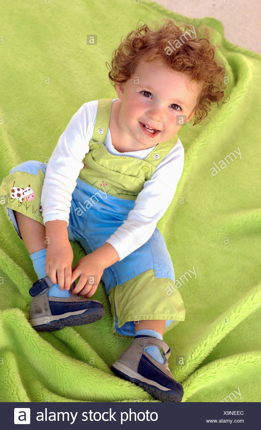 20-month-old girl. - Stock Image
