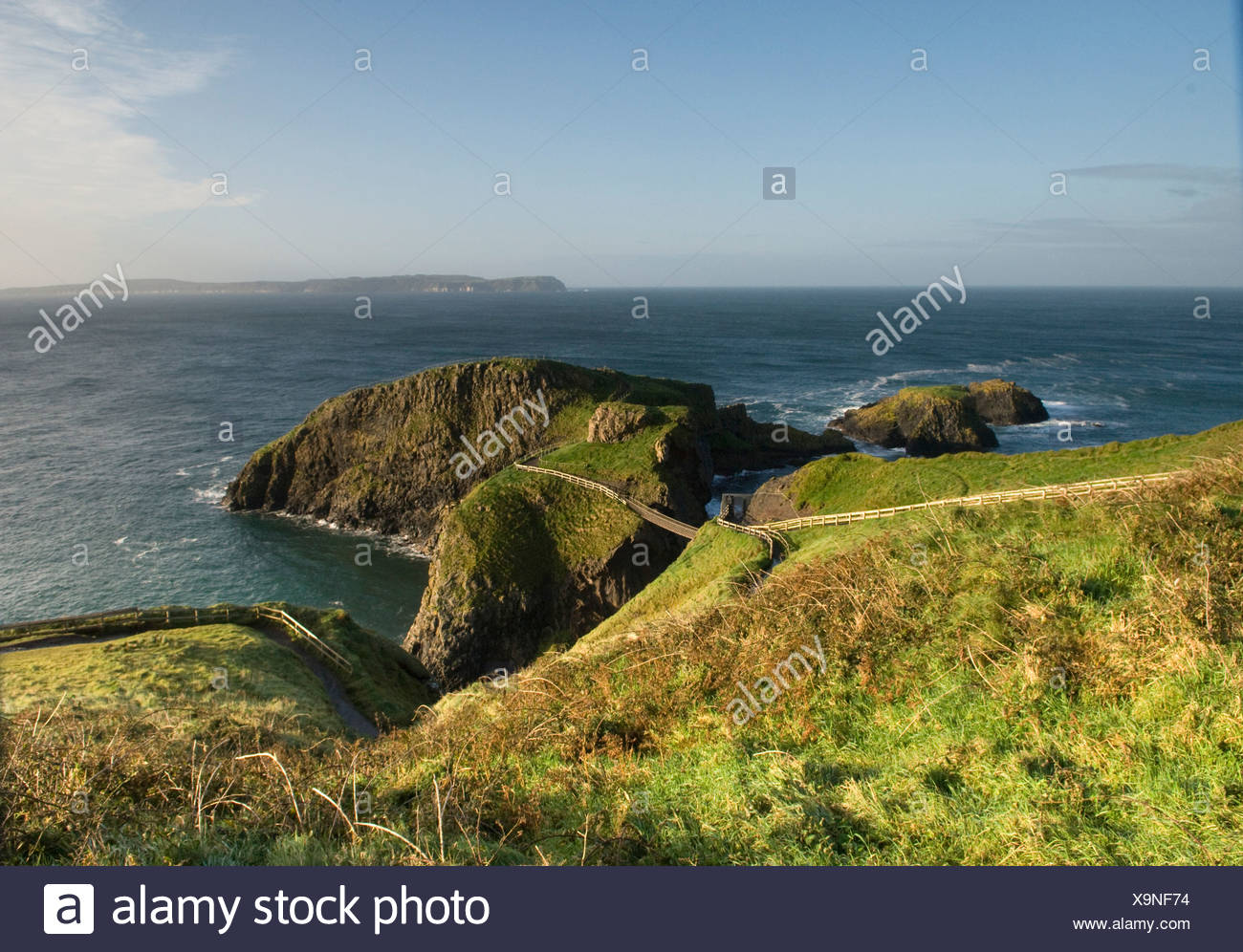 Northern Ireland, Causeway Coast, Carrick-A-Rede rope bridge - Stock Image