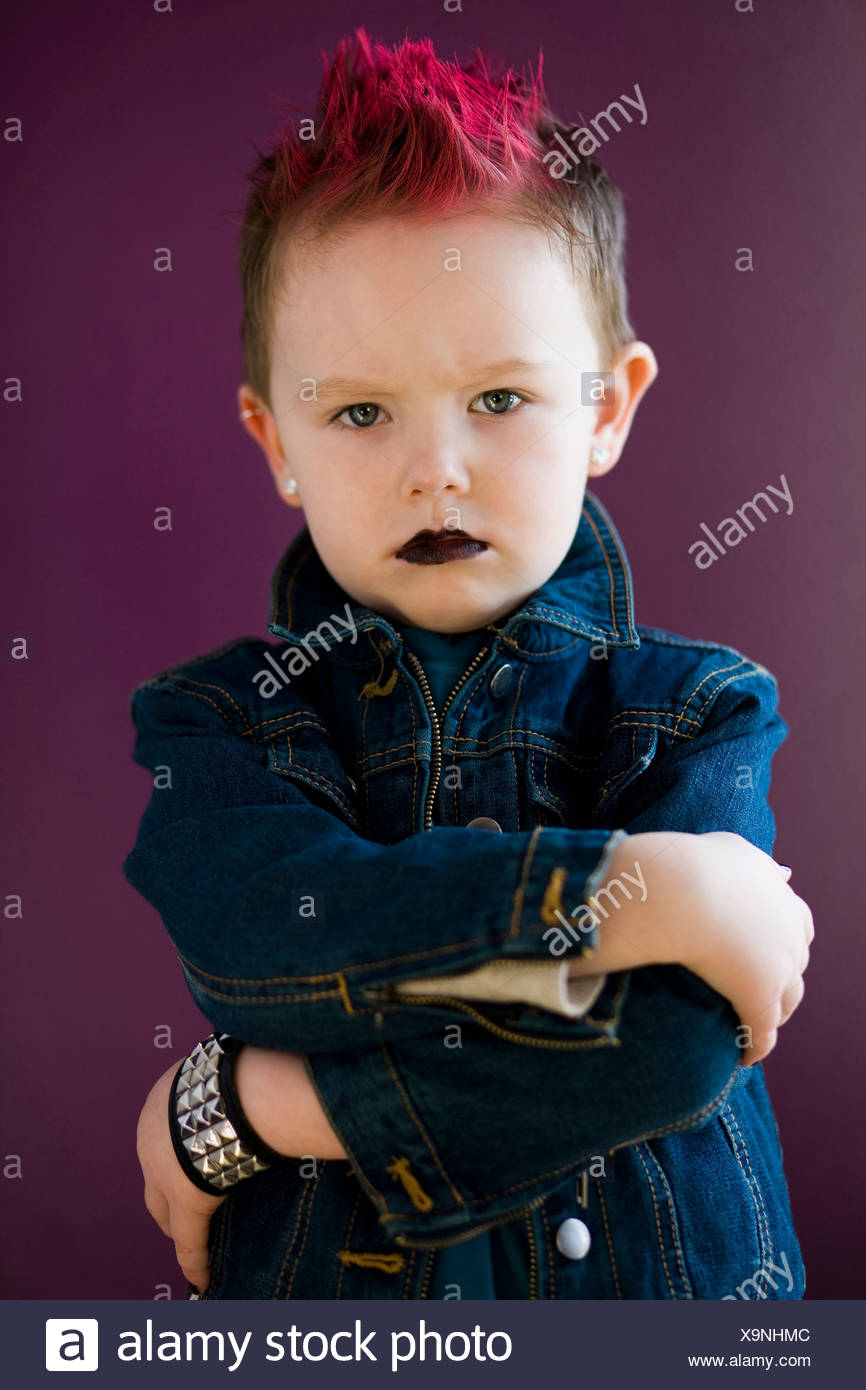 boy with a mohawk - Stock Image