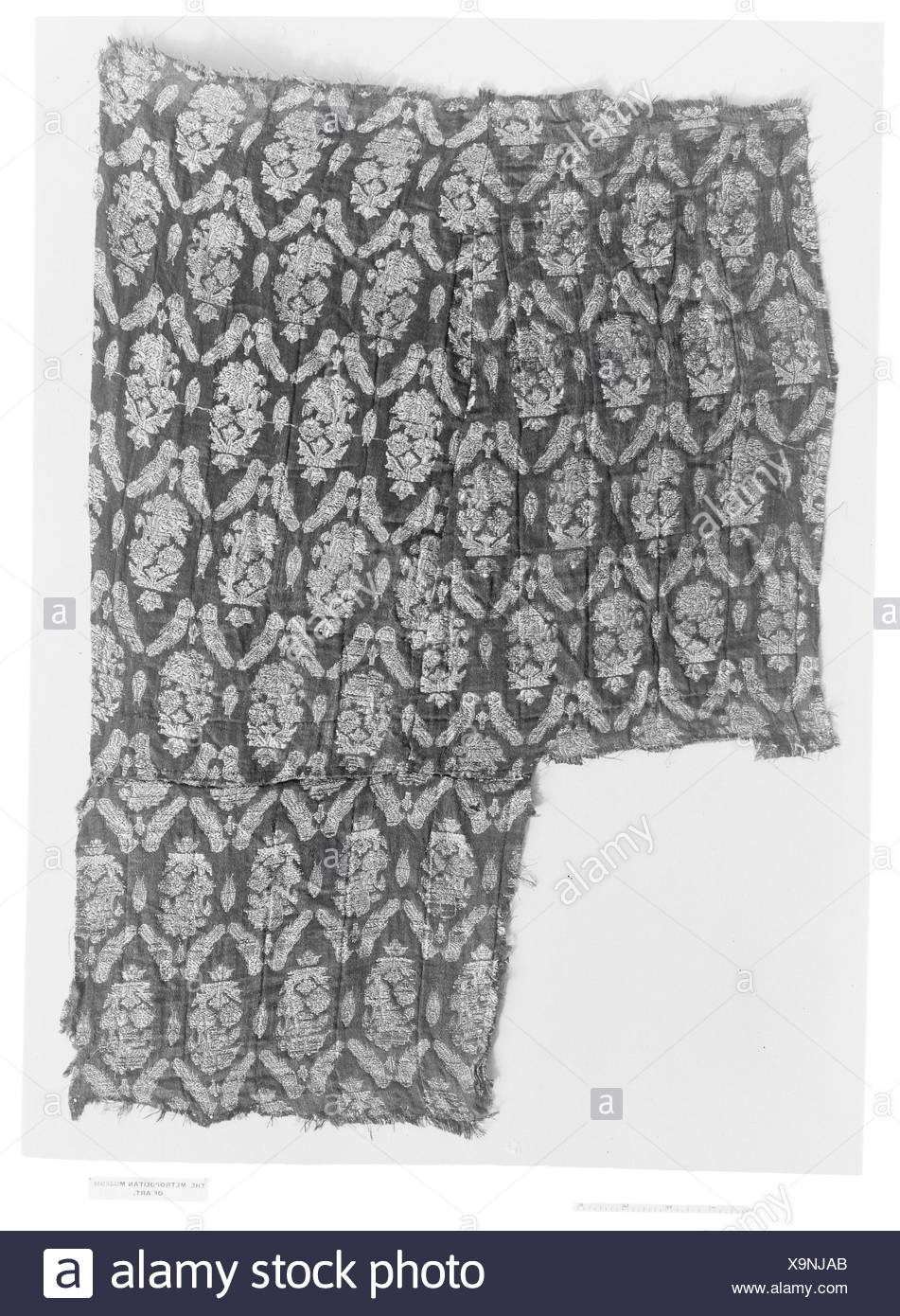 Fragment. Date: 18th century; Geography: Attributed to Iran; Medium: Silk; Dimensions: H. 23 in. (58.4 cm); Classification: Textiles-Woven; Credit - Stock Image