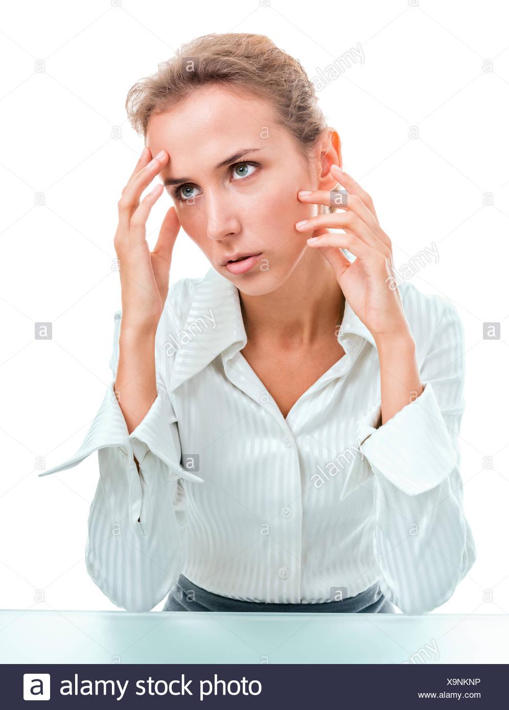 Problems, failures, headache - Stock Image