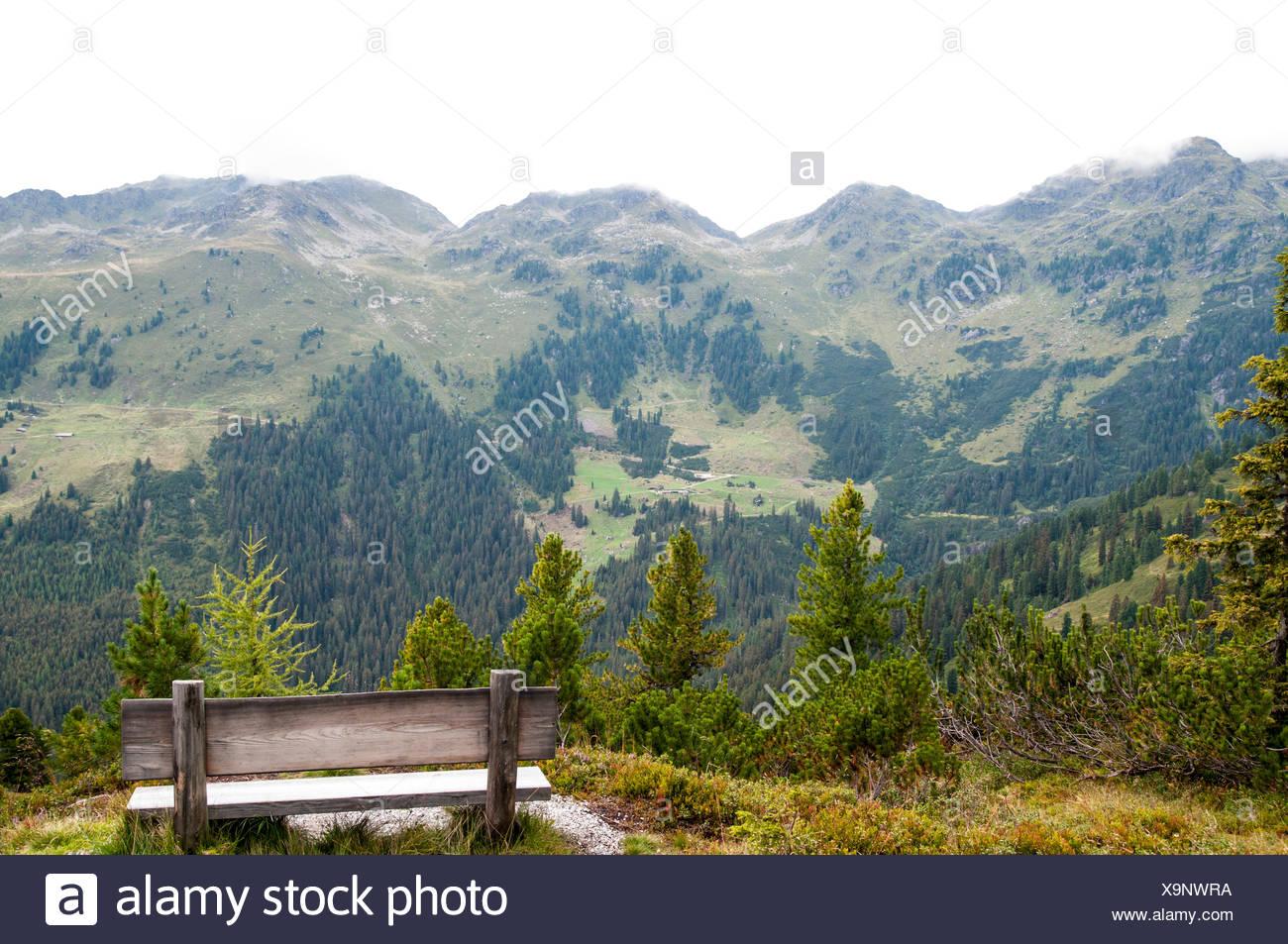 Isskogel mountain peak near Gerlos, Tyrol, Austria Stock Photo