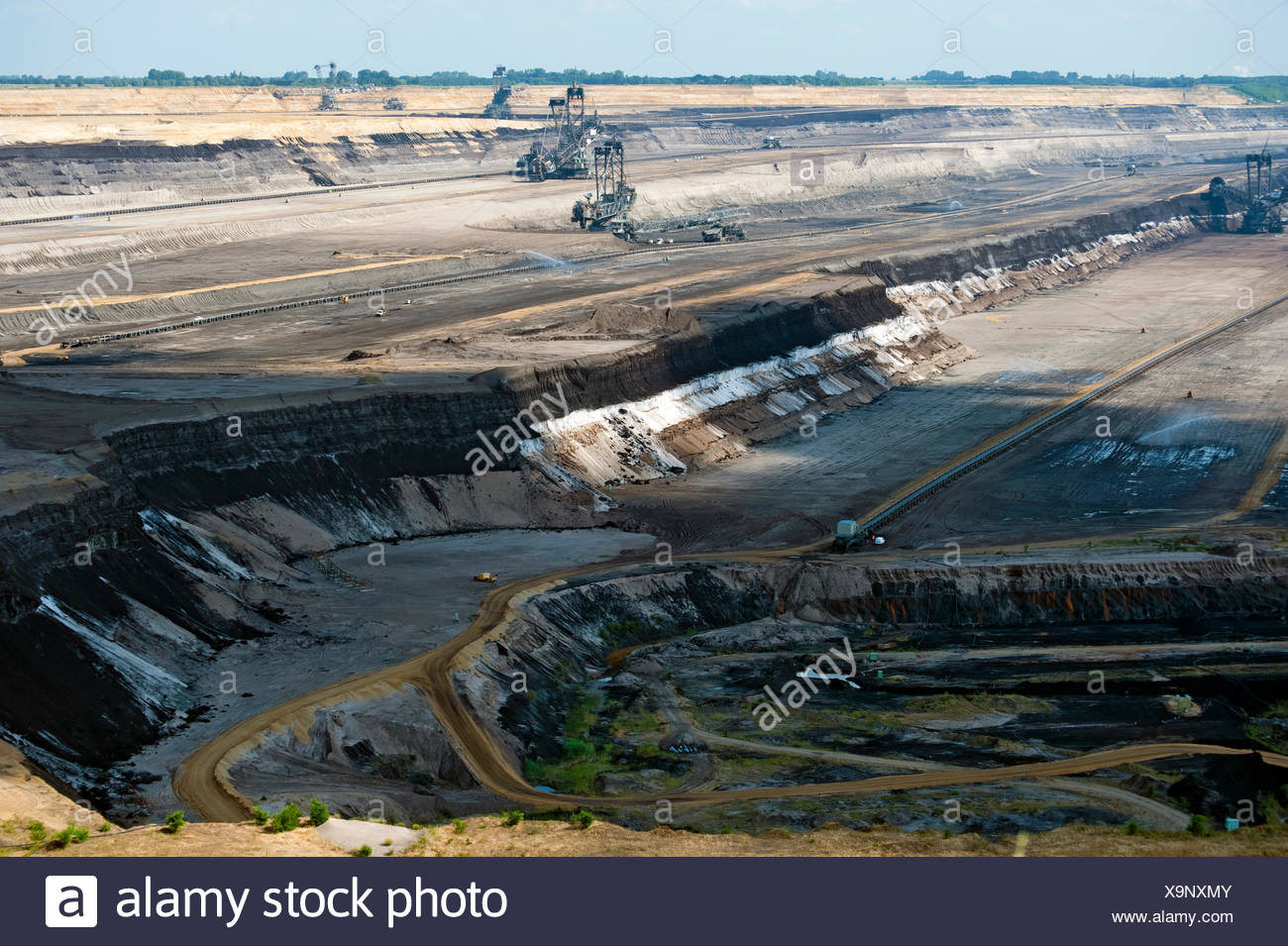 mining,opencast,garzweiler,pit mine - Stock Image