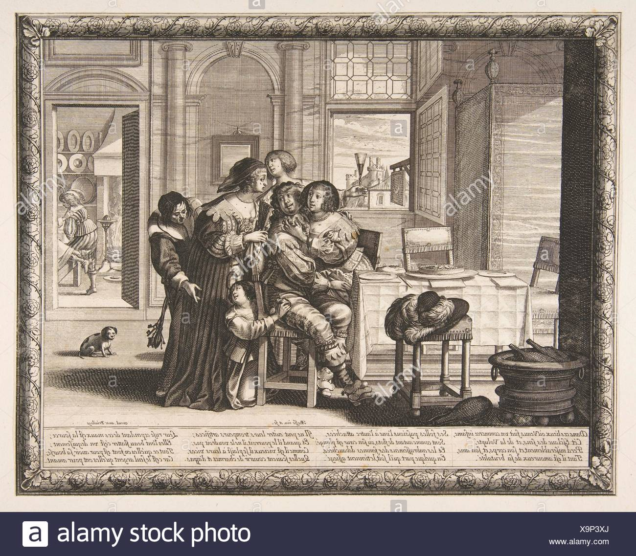 The Prodigal Son in a House of Ill Repute (L'Enfant prodigue dans une maison de débauche, version couvert). Series/Portfolio: Histoire de l'Enfant - Stock Image