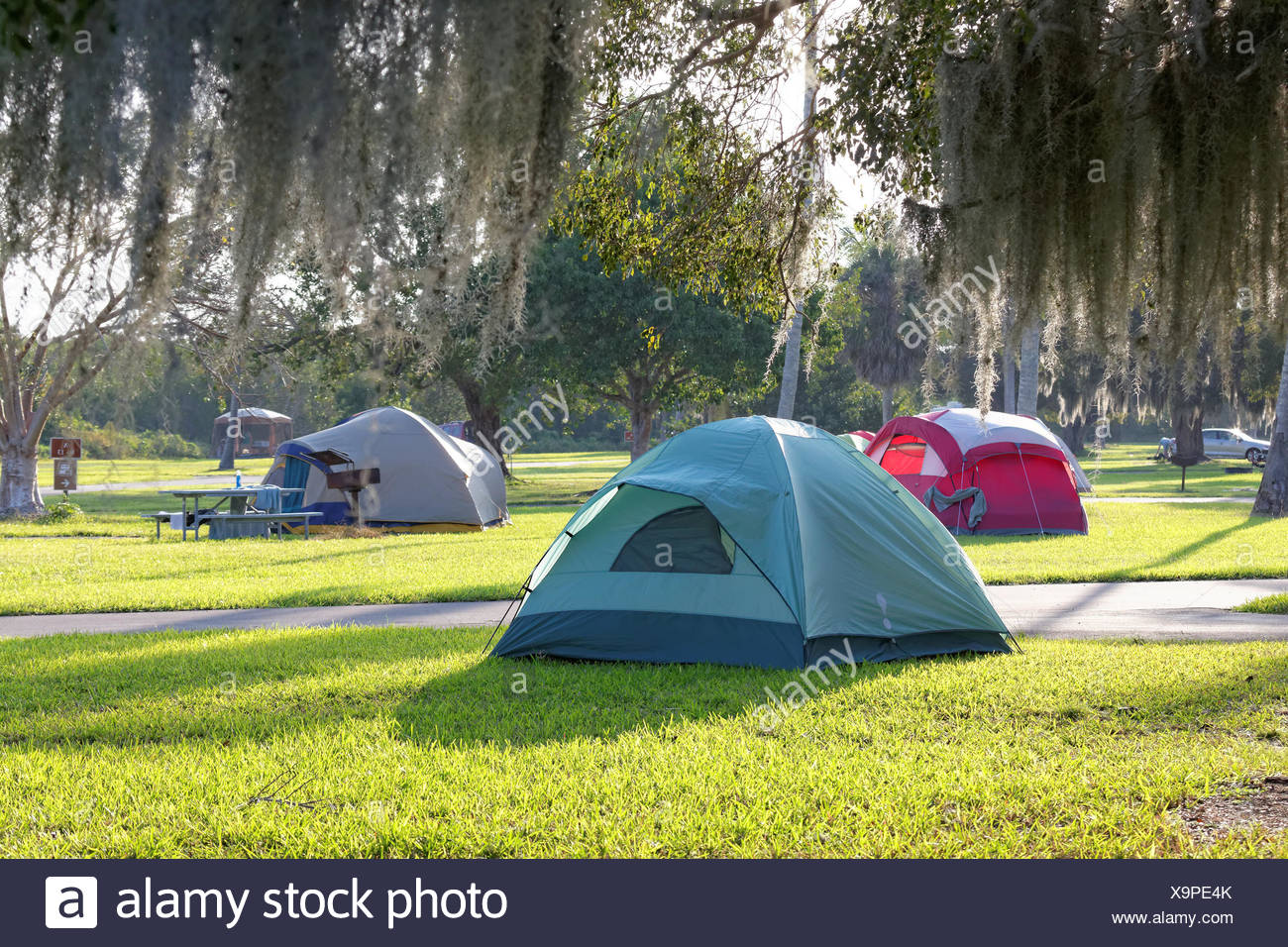 Camping in den Everglades Stock Photo