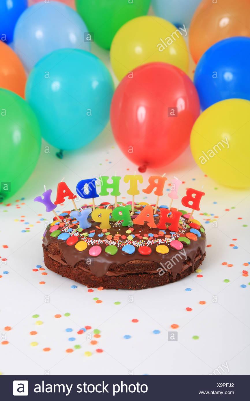 Birthday Cakes Happy Birthday Cake Candles Balloons Party Decoration