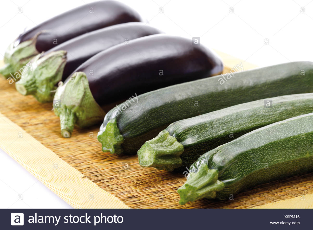 Eggplants and zucchinis Stock Photo