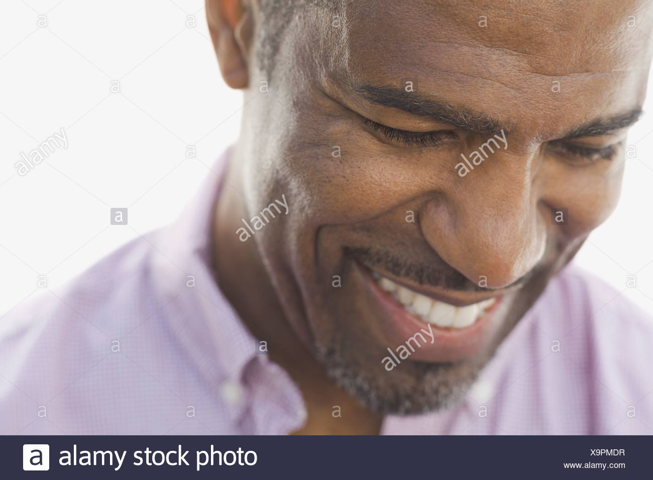 Close-up of smiling man - Stock Image
