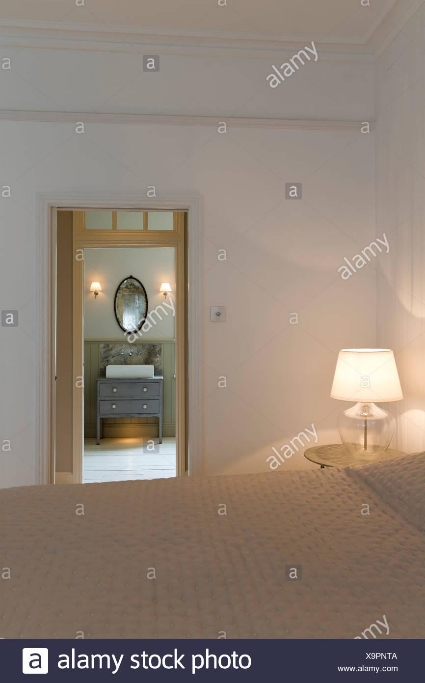 Doorway in modern bedroom - Stock Image