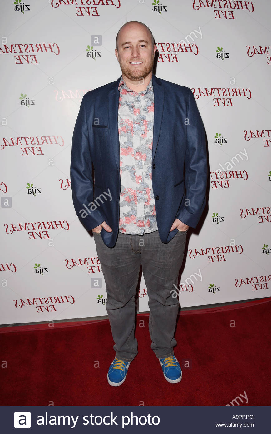 Composer Christian Davis arrives at the premiere of Unstuck's 'Christmas Eve' at the ArcLight Hollywood on December 2, 2015 in Hollywood, California., Additional-Rights-Clearances-NA - Stock Image