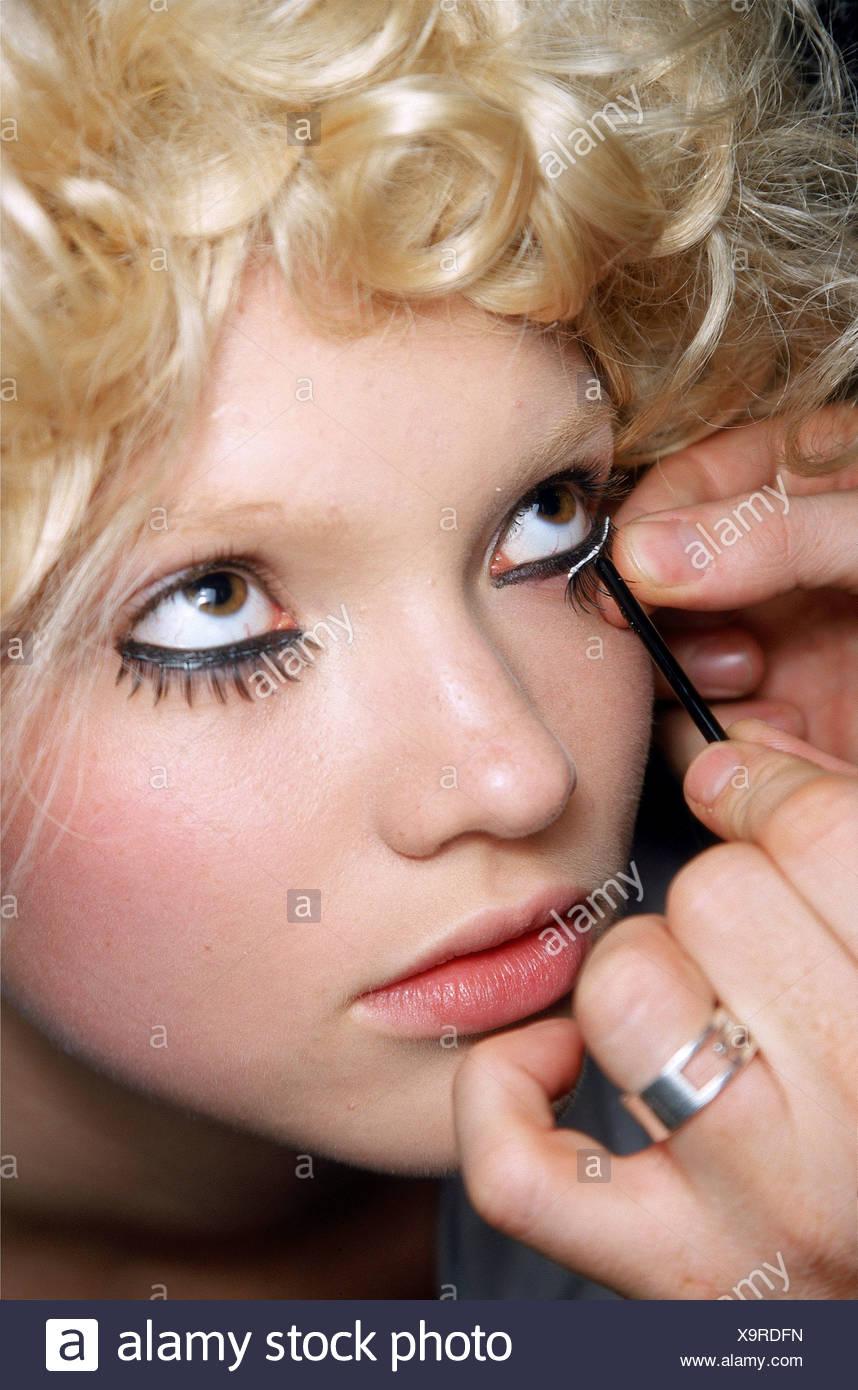 False Eyelashes Blonde Stock Photos False Eyelashes Blonde Stock