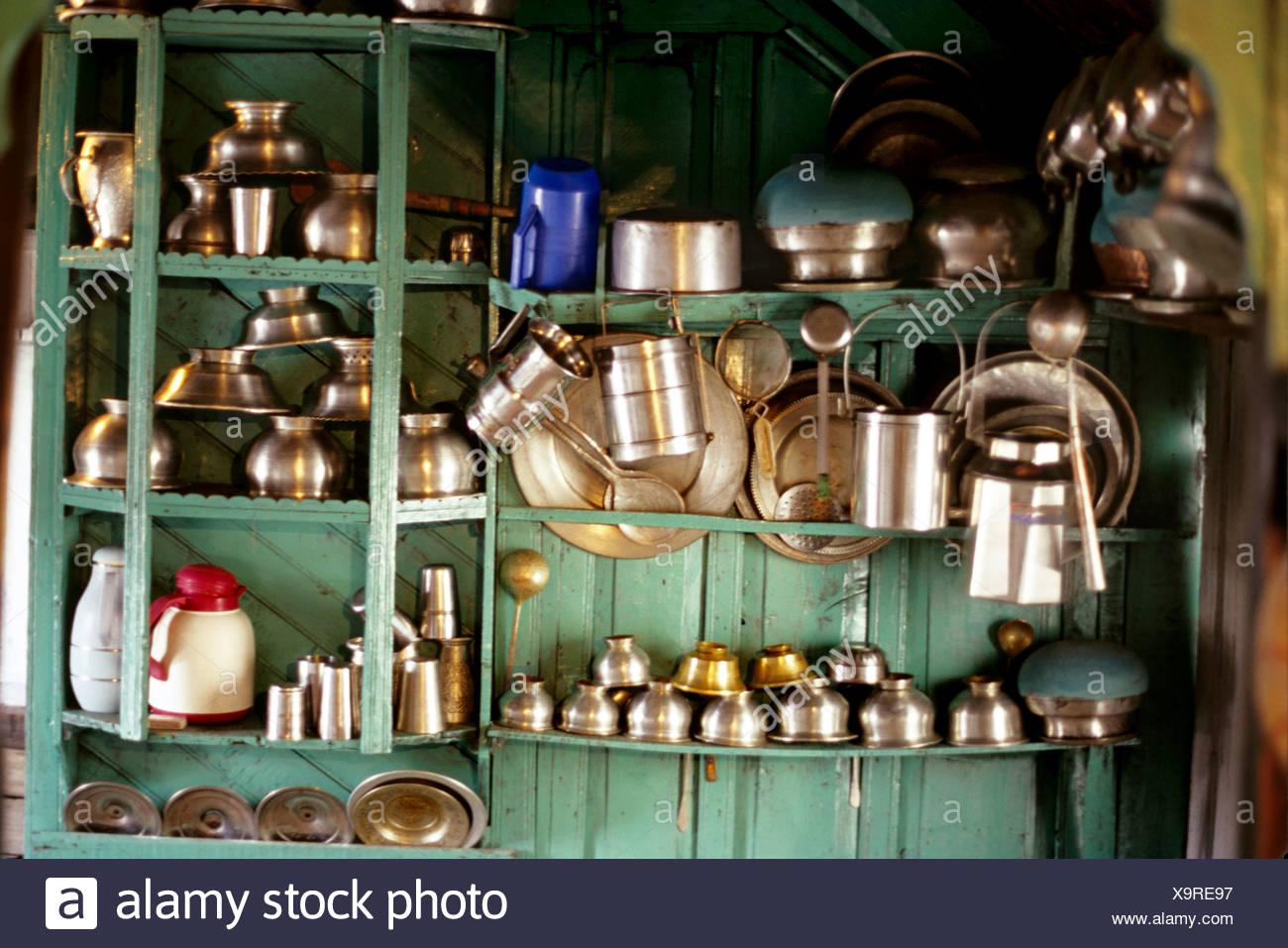 Traditional Kashmiri Kitchen Stock Photos Traditional Kashmiri