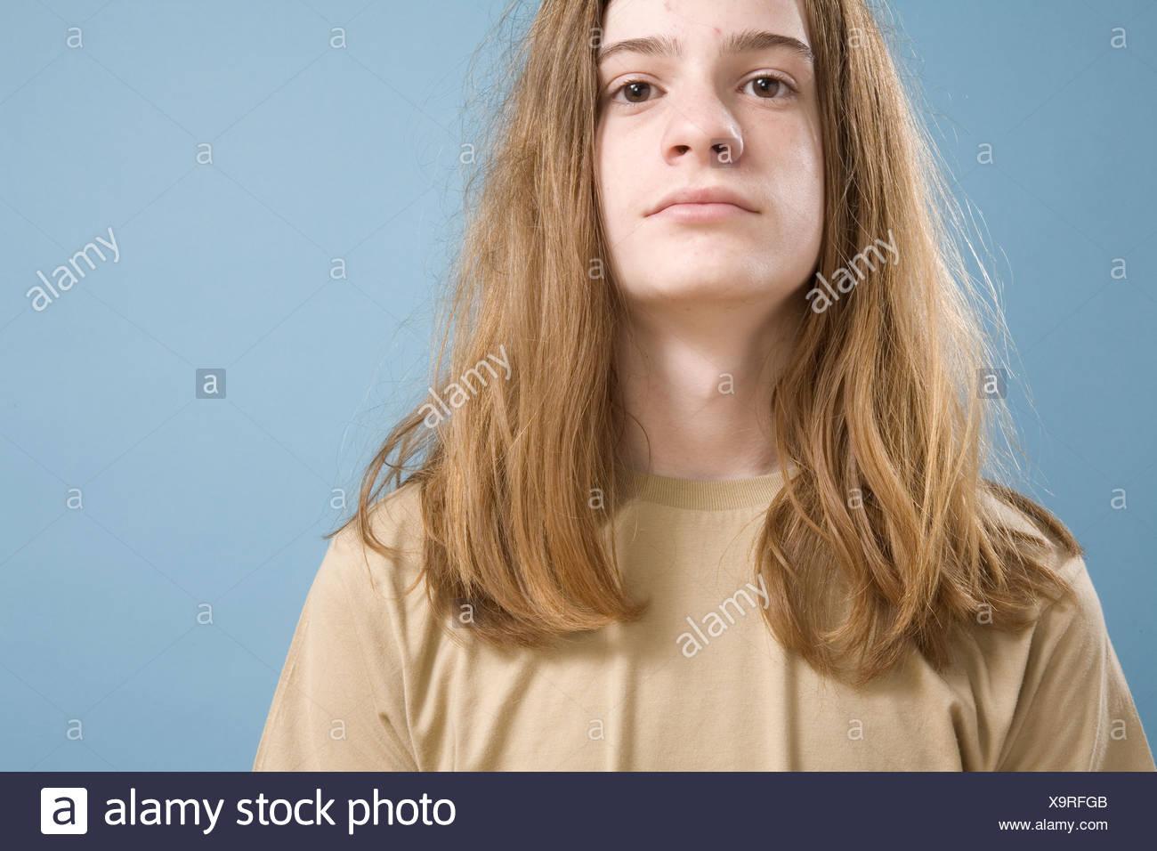 Teen Boys With Long Hair Stock Photos & Teen Boys With