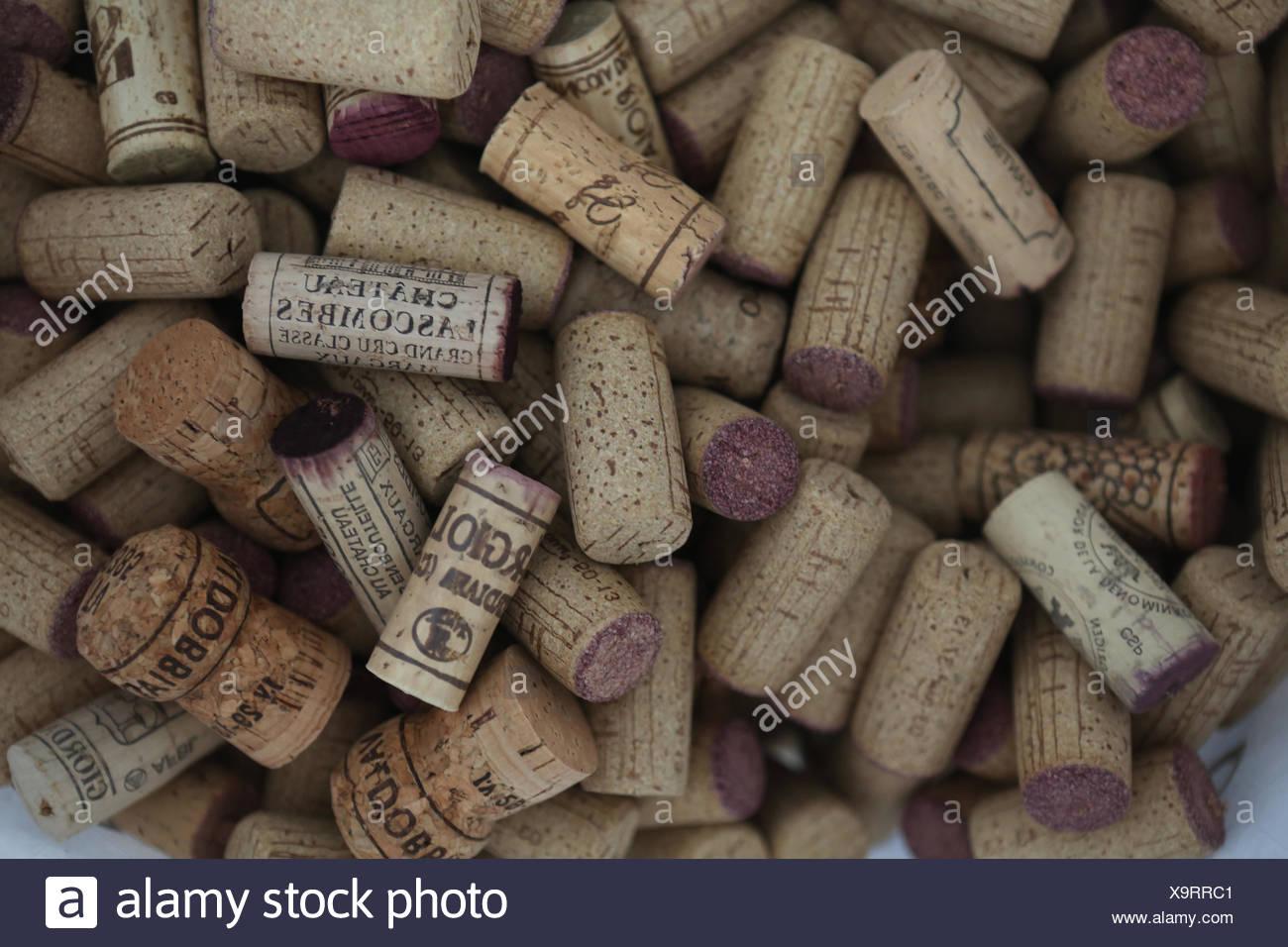 Zuerich, Switzerland, wine corks - Stock Image