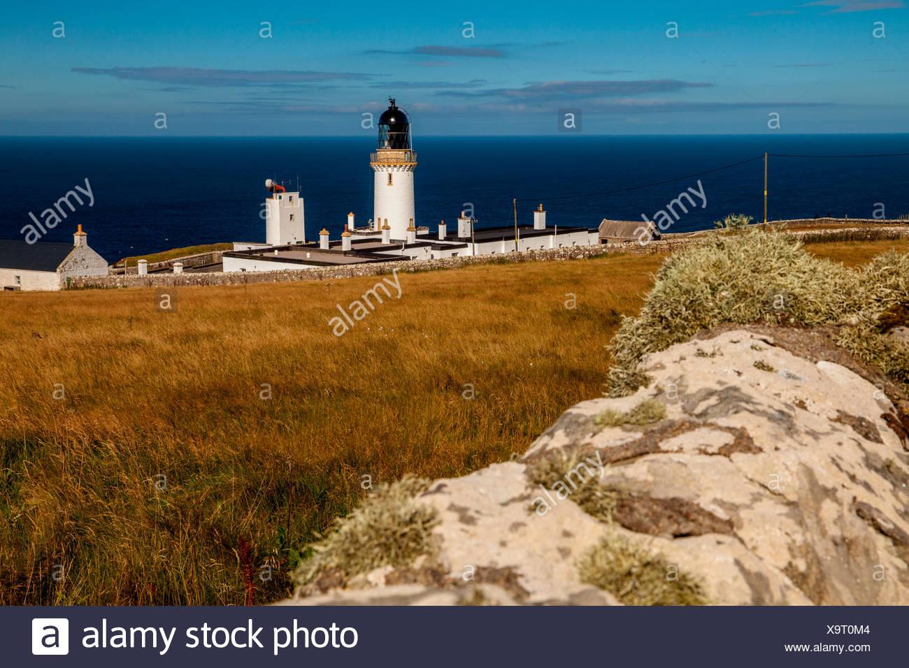 Lighthouse, Dunnet Head, Scotland, UK - Stock Image