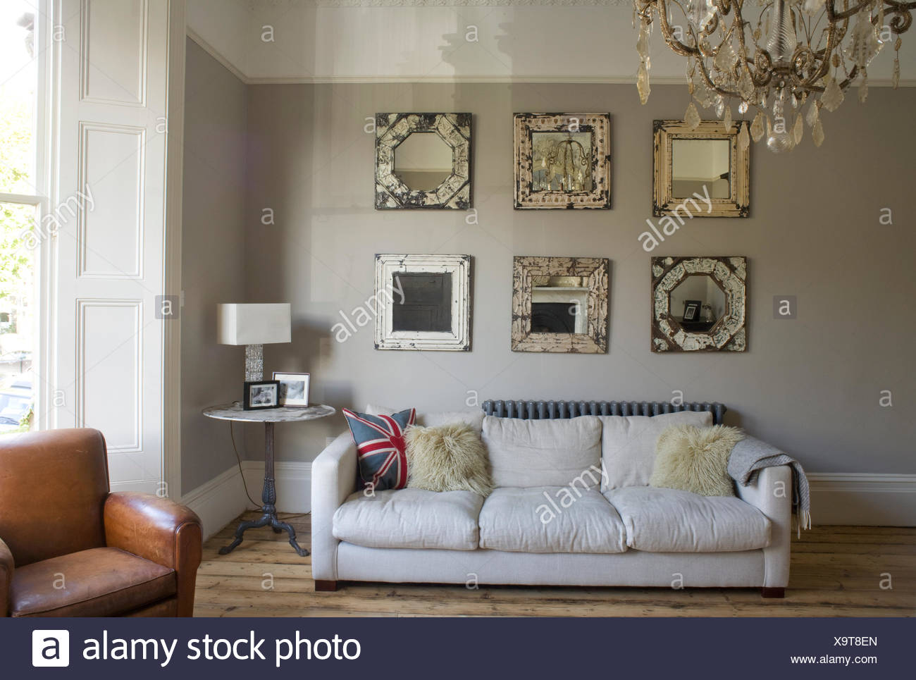 Superb Collection Of Ornate Mirrors Above White Sofa In White Download Free Architecture Designs Scobabritishbridgeorg