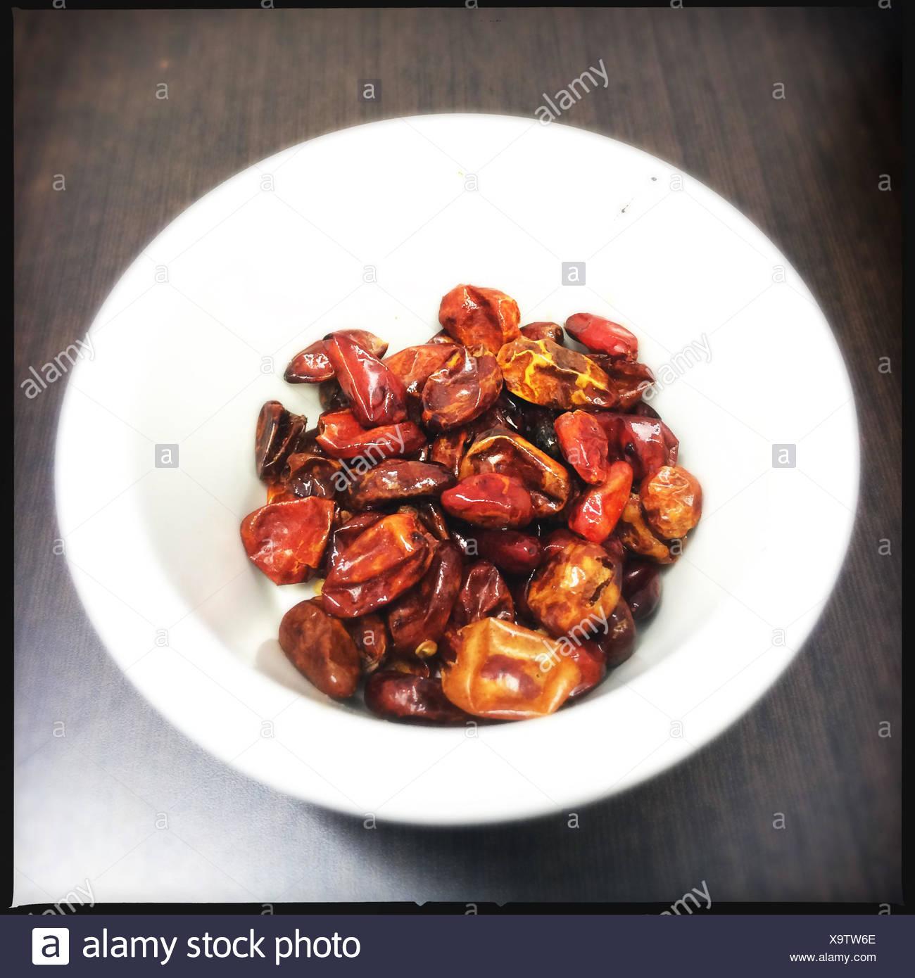 Mexico, Chiapas, Simojovel chili peppers - Stock Image