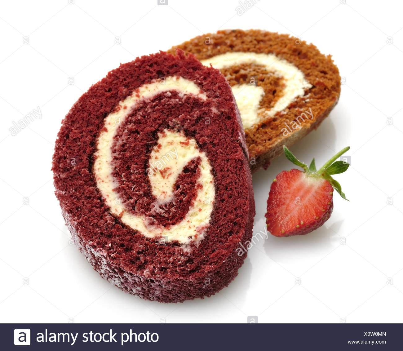 Roll Cakes - Stock Image