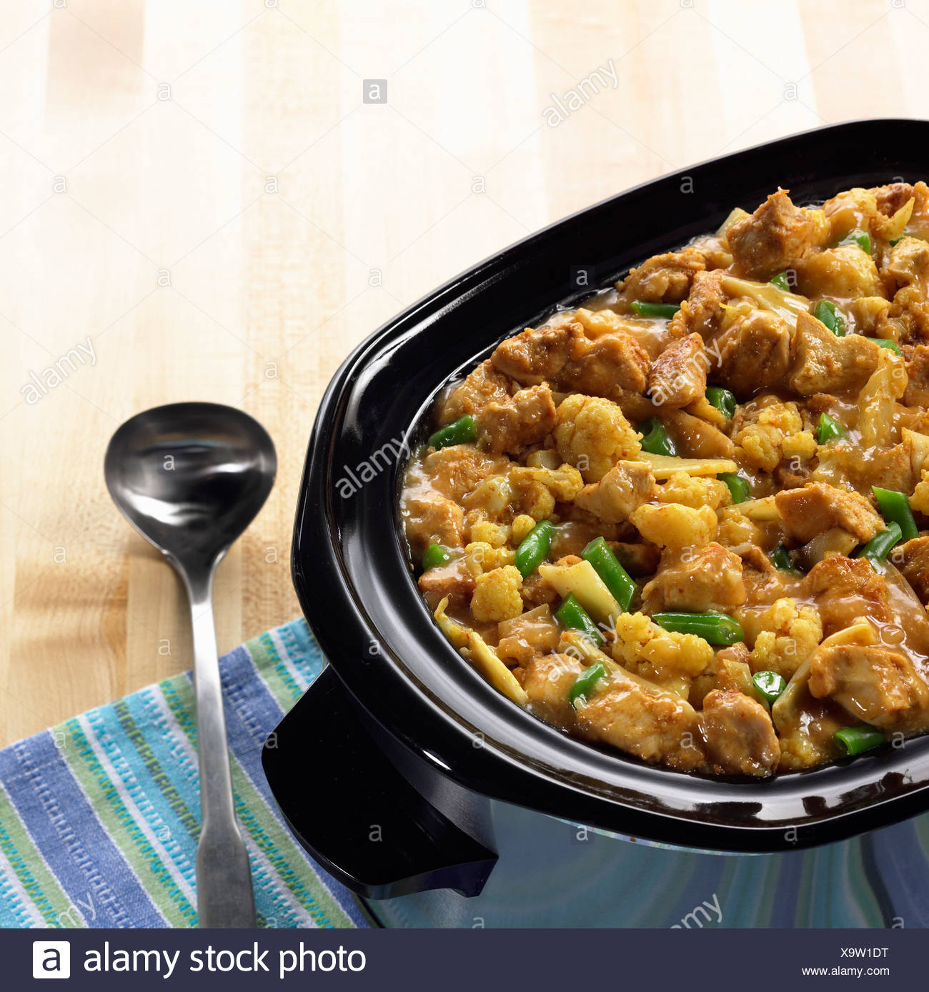 Curry chicken casserole - Stock Image