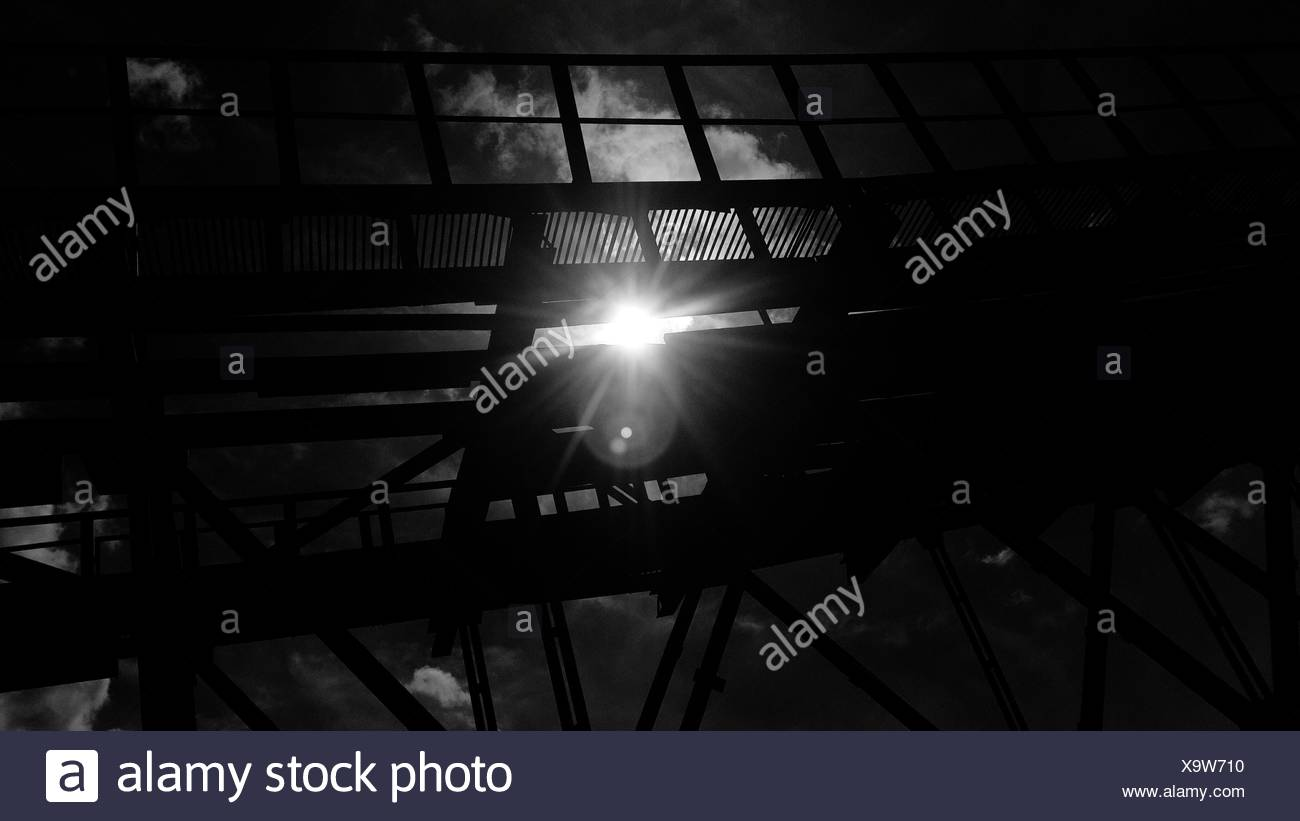 Sunlight Through Planks Of Diving Board - Stock Image