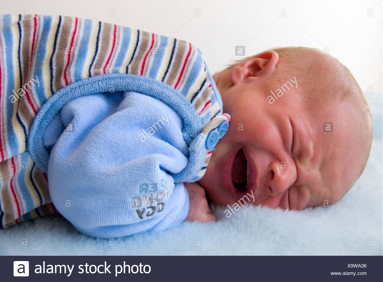 infant,approximately 1 month old - Stock Image