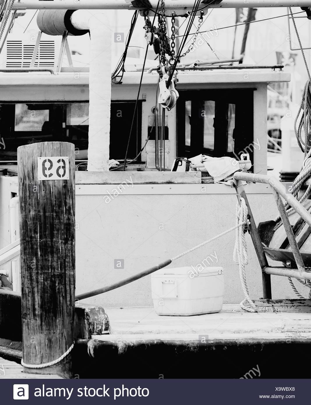 Moored Nautical Vessel - Stock Image
