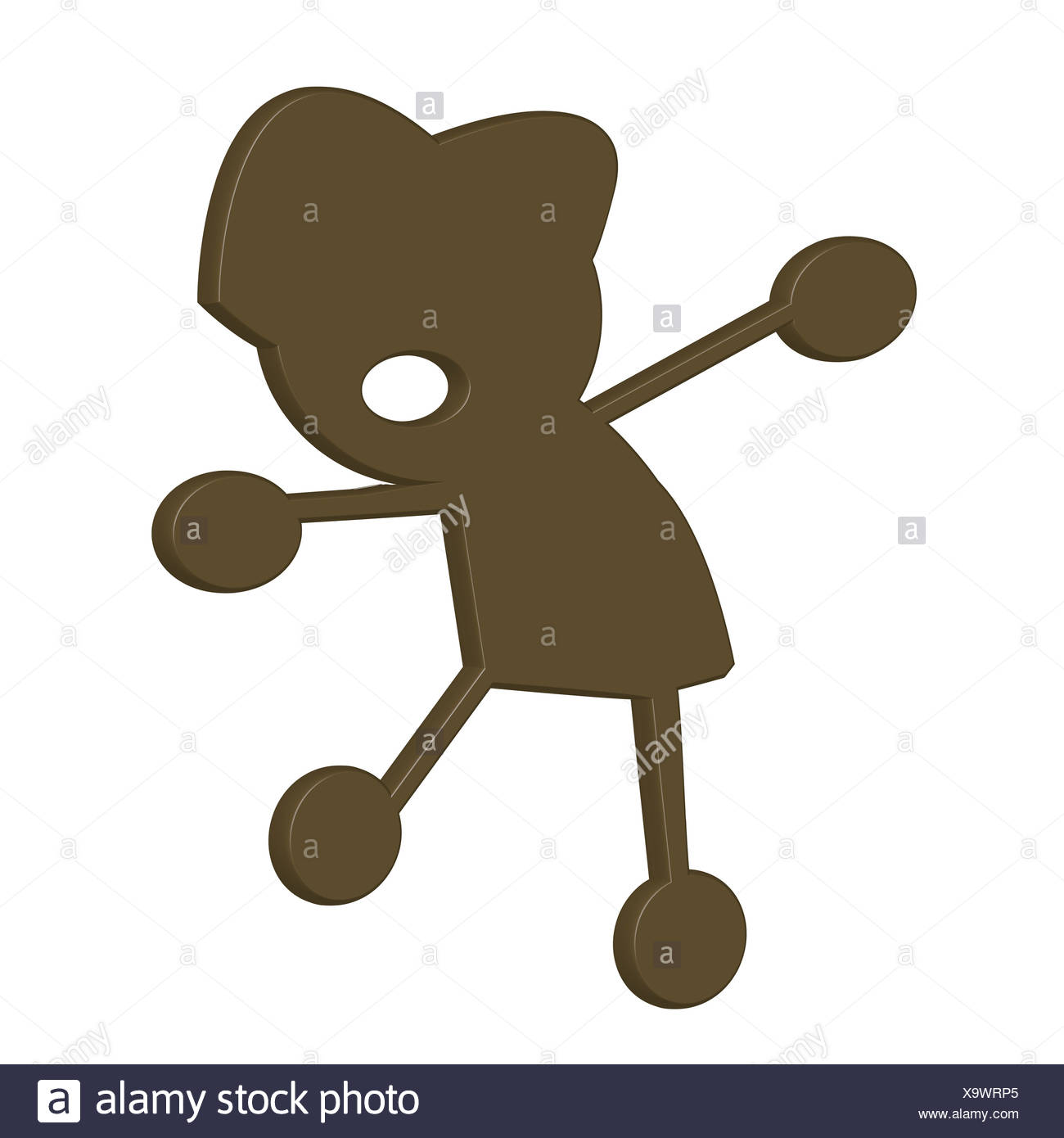 Chocolate little boy - Stock Image
