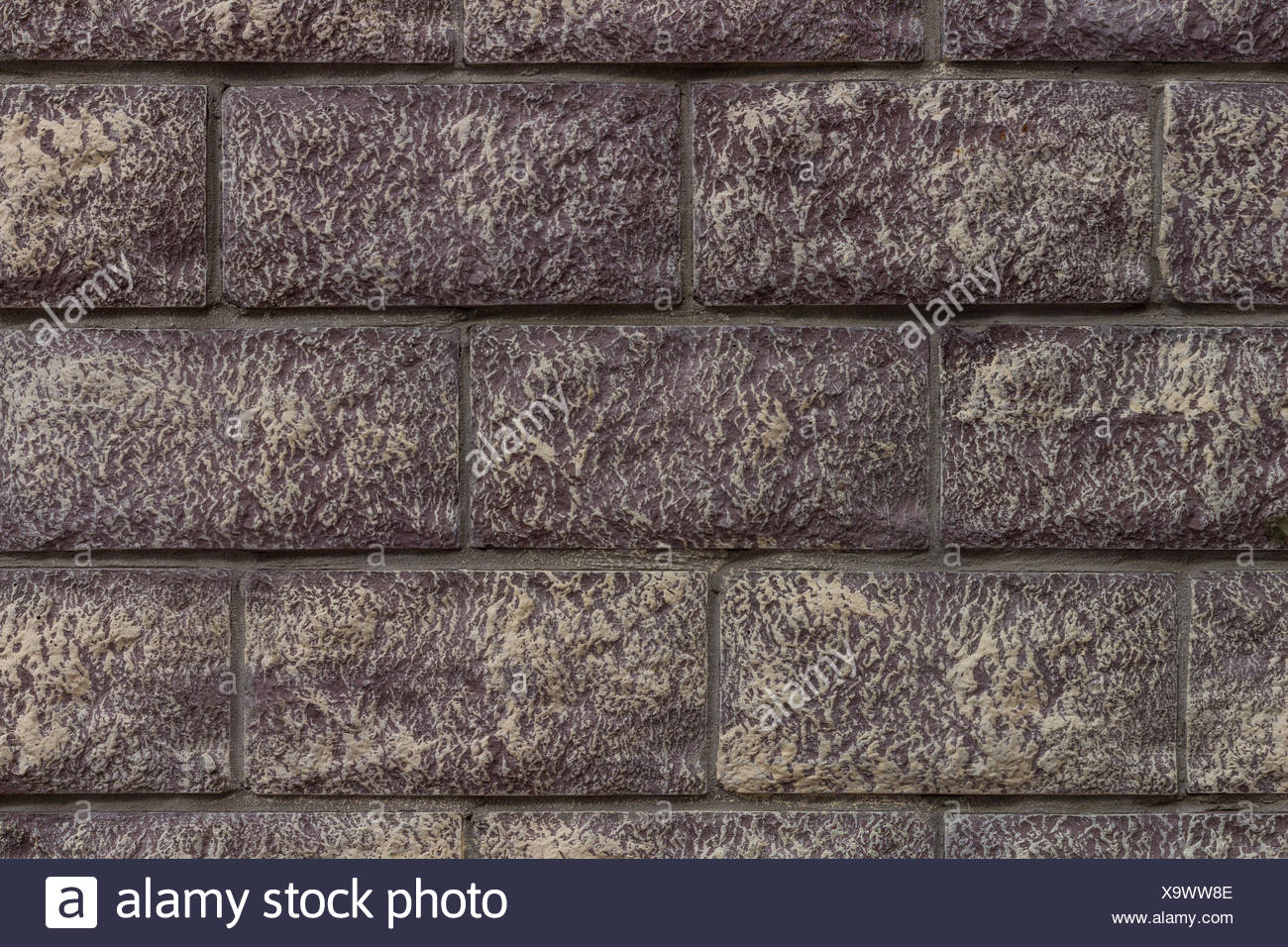 Brick tiles wall texture background - Stock Image