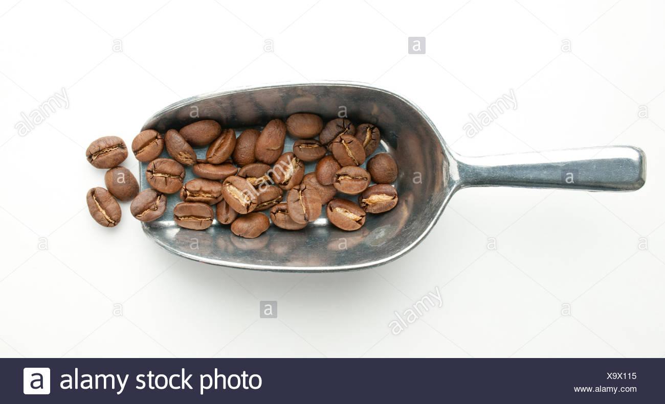 Burundi, roasted washed bourbon coffee beans Stock Photo