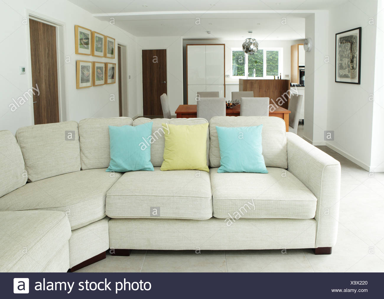 Sofa in living area - Stock Image