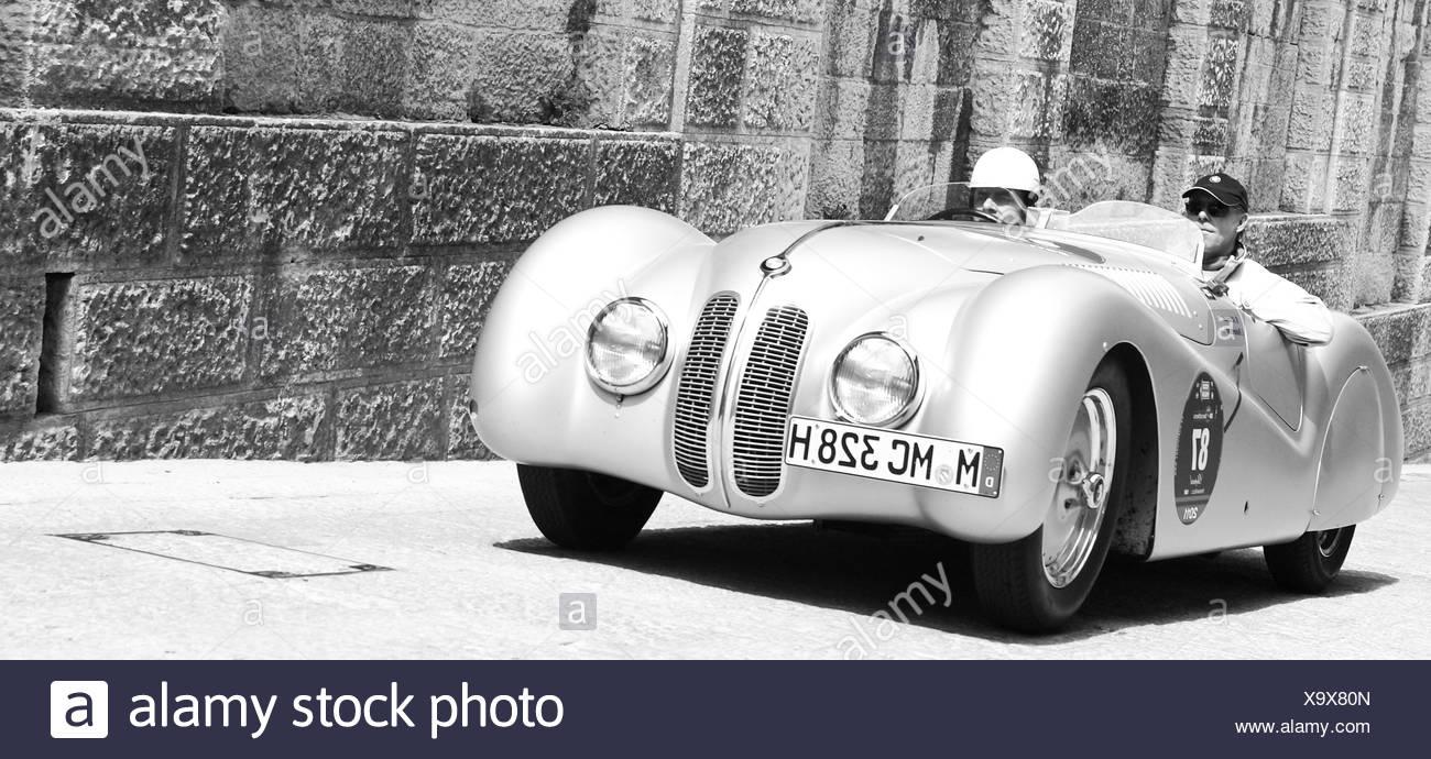 BMW 328 Mille Miglia Roadster, San Marino - Stock Image