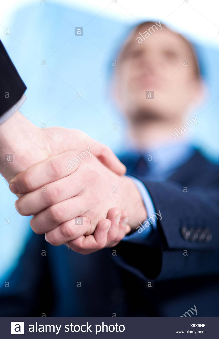 Business handshake among two corporates - Stock Image