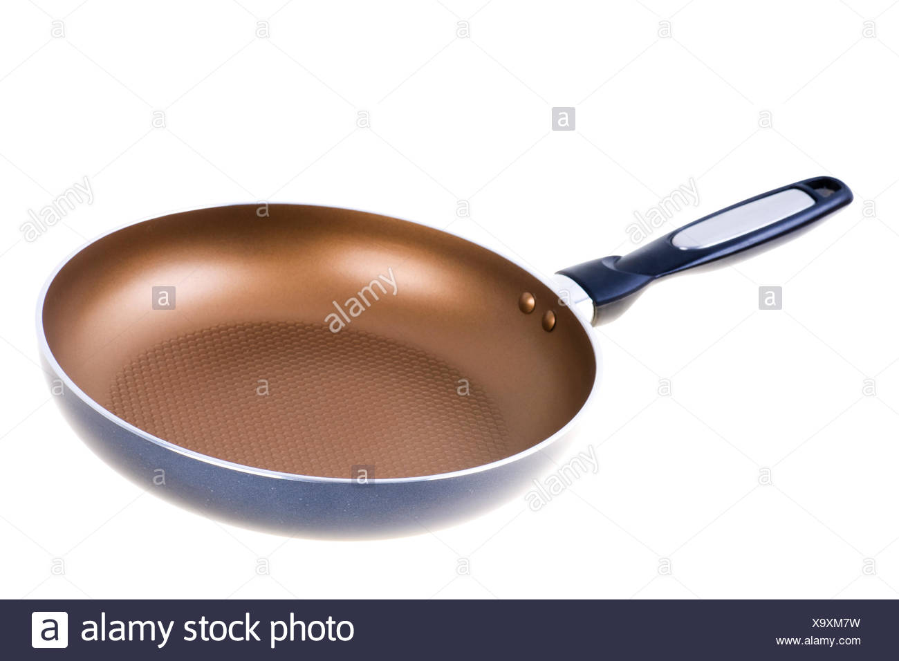Close-up of the teflon frying pan isolated - Stock Image