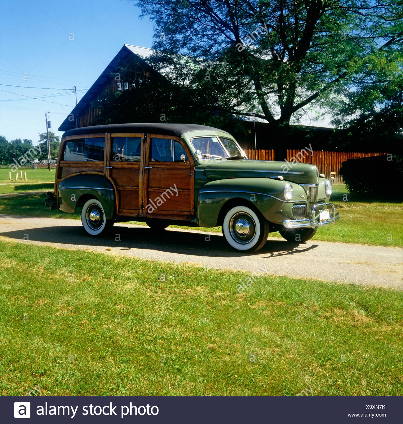 Woody Station Wagon Stock Photos Images 1941 Oldsmobile Ford Image