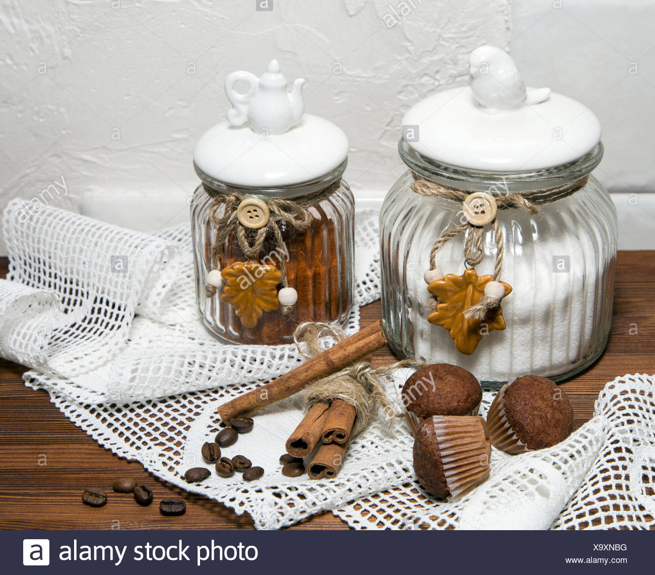 Banks for loose products - Stock Image