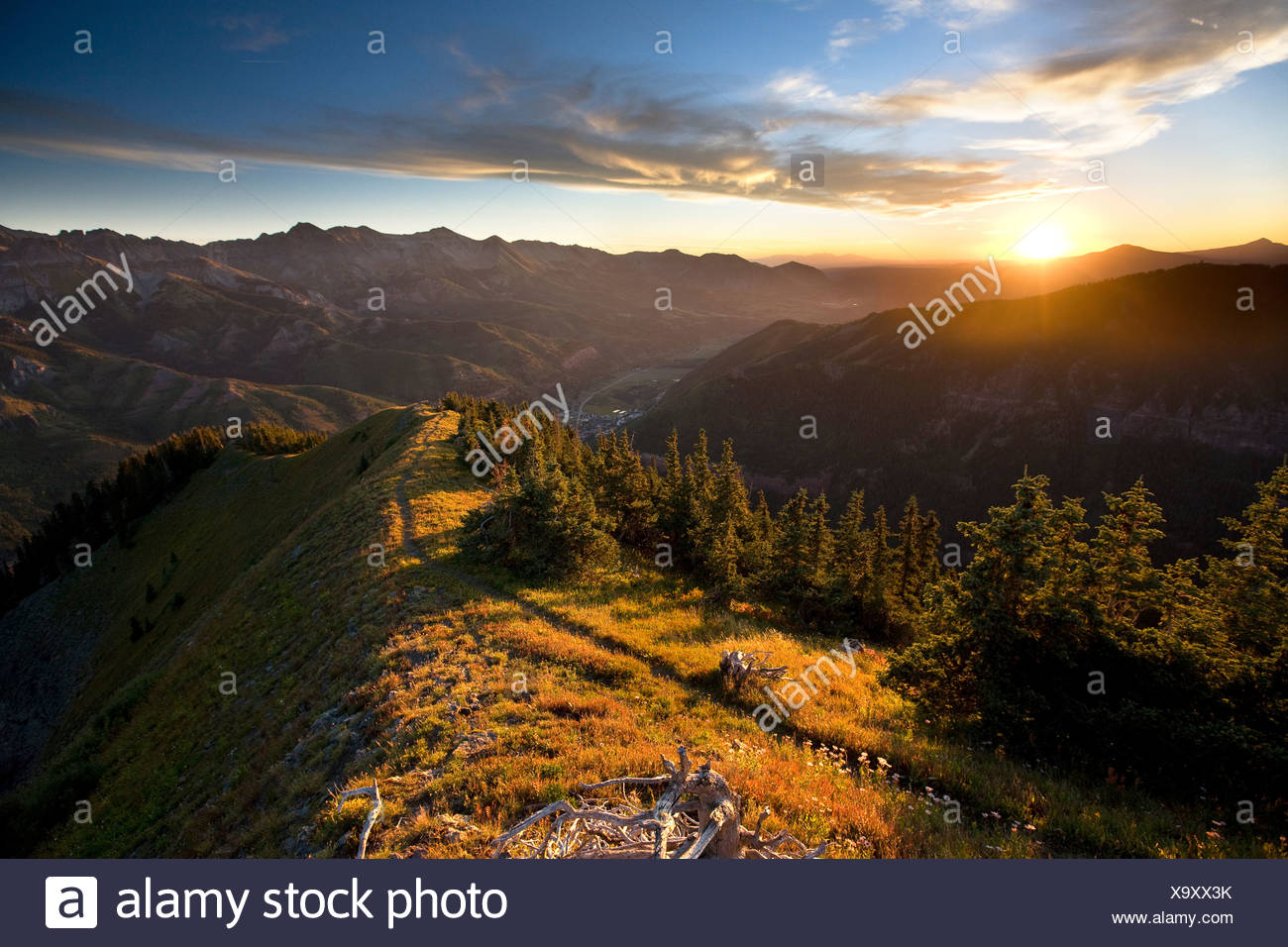 Ballard mountain, Telluride, Colorado. - Stock Image